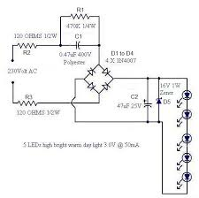 a simple led lamp circuit from scrap uses led and takes only ma circuit diagram seetharaman s