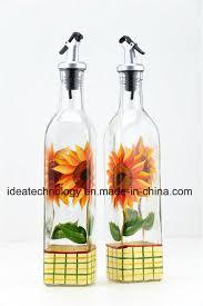 square decorative olive oil glass bottle sesame oil glass bottle home kitchen use