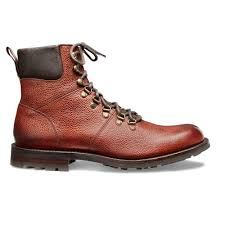 ingleborough b hiker boot in mahogany grain leather