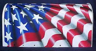 painted mailbox designs.  Painted Custom Airbrush Paint Flag Design Mailbox  To Painted Mailbox Designs L
