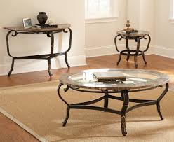 Coffee Table Set Of 3 Steve Silver Gallinari 3 Piece Marble Coffee Table Set W Glass