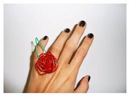 Flower Paper Clips Make A Paperclip Ring Dollar Store Crafts