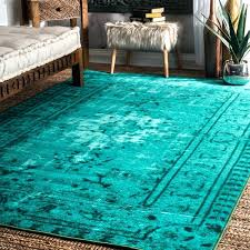 vintage inspired turquoise rug overdyed target