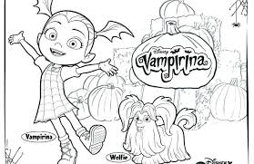 Coloring Book Vampirina Pages Printable Betterfor