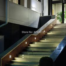 Interior Stair Lights Us 22 55 Indoor Led Stair Light Ac85 265v Recessed Wall Lamp Sconce Lights 1w 3w Step Lamps Stairway Lights Corridor Lighting With 86 Box In Led