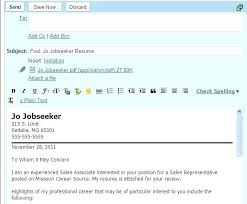 Cover Letter By Email How To Email Resume And Cover Letter Email