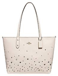 Coach Satchel 36876 Shoulder City City Tote in chalk white ...