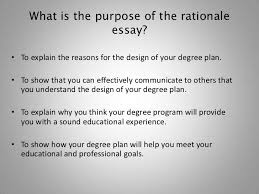 how to write the rationale essay 5 what is the purpose of the rationale essay