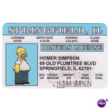Drivers On Simpsons The Collectible License States Il Photo Homer Springfield 64023276 Ebid United Simpson Card