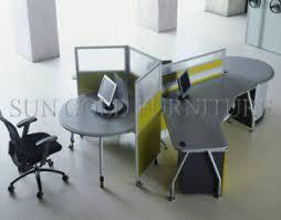 round office desks. brilliant desks glass partition round workstation new design 3people office desk szws330 and desks