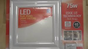 feit flat panel led light fixture detailed install and review costco 944464