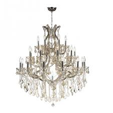 maria theresa collection 28 light chrome finish and golden teak crystal chandelier 38 d x
