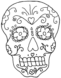 Free Day Of The Dead Coloring Pages Day Of The Dead Coloring Page