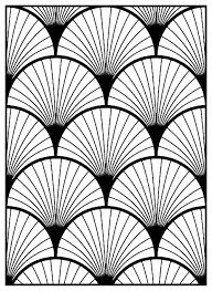 Art Deco Pattern Adult Coloring Page