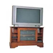 avoca cherry corner tv stand with glass doors