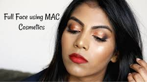 full face using mac cosmetics nc44 mac makeup for brown indian skin tones shuanabeauty