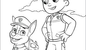Paw Patrol Ryder Coloring Pages To Print