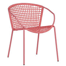 pink bistro chair for marvelous 10 easy pieces outdoor dining chairs in shades of spring gardenista