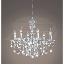 creative of lighting crystal chandeliers maddison shine 6 light with crystal and chrome chandeliers