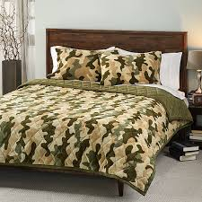 image of camouflage bedding full