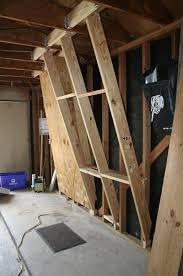 framing a wall. Climbing Wall Stringer Framing A
