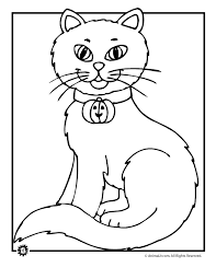 Small Picture Scary Cat Coloring Page C Coloring Home