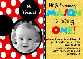 baby mickey mouse invitations birthday mickey mouse birthday card free printable mickey mouse birthday