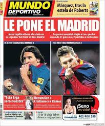 Portada Mundo Deportivo 25/03/2014 - Le pone el Madrid