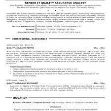 Software Quality Assurance Manager Resume Resume Template