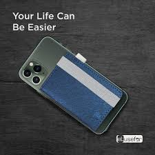 Buy Stick-On Phone Wallet for Back of iPhone or Android Case | 6 Sleeve  Credit Card Holder - Pocket for Cards, Money & ID - Built-in Stand -  Waterproof Material - Travel,