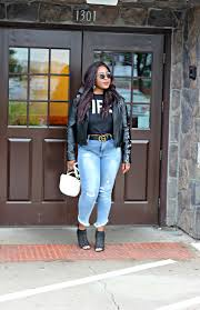 Akofa Designs Fire Top And Jeans Leather Jacket Hypnoz Glam