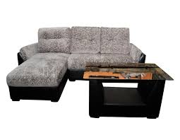 em 171l l shaped sofa with center table