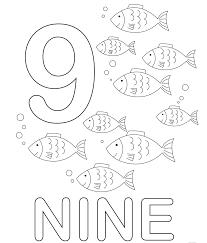 In Inglese Numeri Da Colorare Numero Nove Disegni Da Colorare E