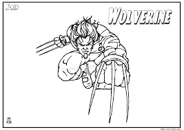 x men wolverine coloring pages 08