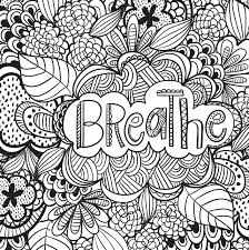 Breathe Coloring Page