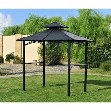 outdoor grill canopy bbq gazebo plans patio
