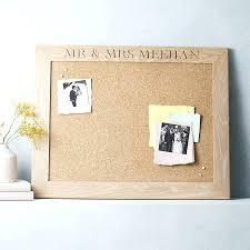 White Frame Cork Board Personalised White Oiled Oak Cork Or Chalk Notice  Board By The Oak
