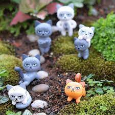 6pcs cute cats resin kitten cat