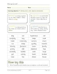 Best Verbs Adverbs Worksheet Best Of Identifying Nouns Verbs Adjectives And