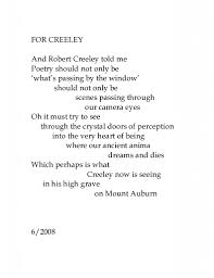 Lawrence Ferlinghetti poems to Robert Creeley