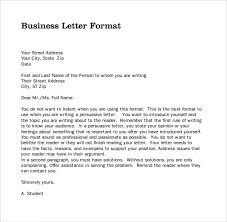 sample professional business letter