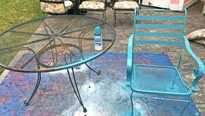 painting metal outdoor furniture the easy way to paint metal patio furniture petticoat painting metal outdoor furniture
