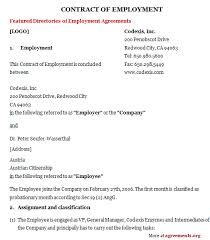 Writing a contract can be difficult but, fortunately, you can find free printable employment contracts and further support. Employment Contract Template Download Pdf Agreements Org