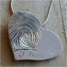 heart shaped fingerprint necklace