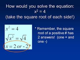 5 3 solving quadratic equations by finding square roots goals 1