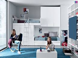 Loft Bedrooms White Teen Bedroom Wall Themes Combined By Wooden Loft Bed With