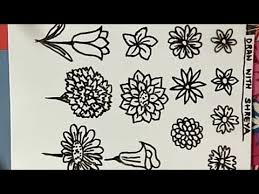 How To Draw Different Types Of Flowers Easily