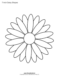 Daisy outline free printable daisy templates daisy shape flower pdfs on 3 7 8 inch printable template