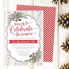 Christmas Dinner Invitation Templates Christmas Party Invitation Template Rustic Winter Woodland Holly Printable Invite Editable Text Instant Download Diy Holiday Invite Pdf