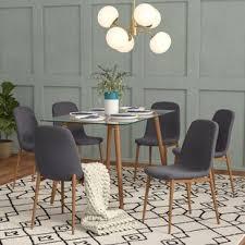 gramercy park modern gl 7 piece dining set